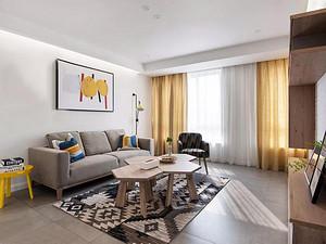 都市时空130㎡现代简约3室2厅效果图