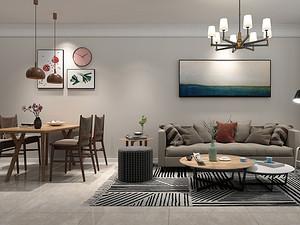 橡樹灣, 140平, 北歐風格,三室兩廳