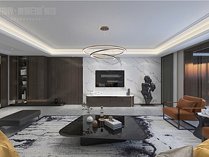 """现代风格丨世纪新城210m2 — """"屋内有画"""""""
