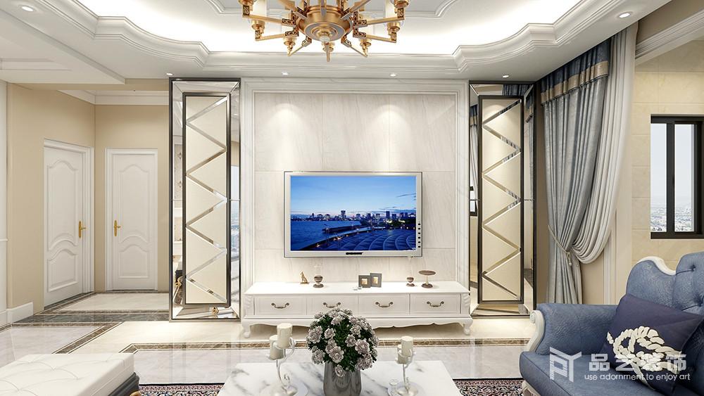 锦绣园三居室-电视背景墙