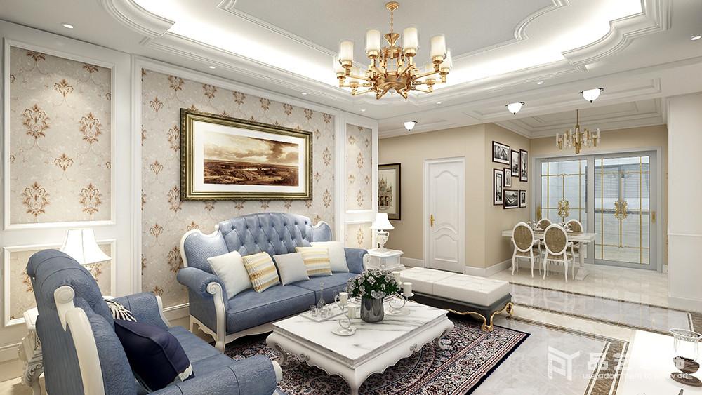 锦绣园三居室-沙发背景墙