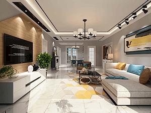 领域名郡三居室 144㎡ 现代风格