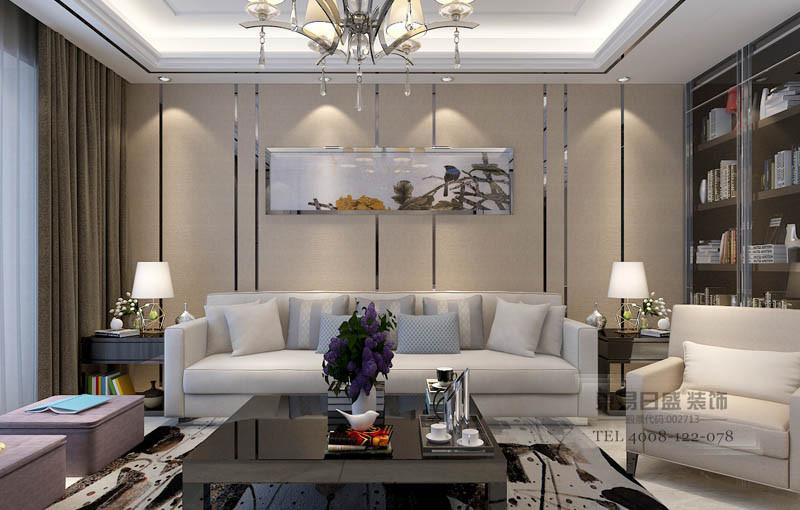 新中式壁纸背景墙效果图