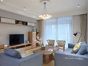临沂装修三室两厅保利香槟国际装修效果图_北欧风格