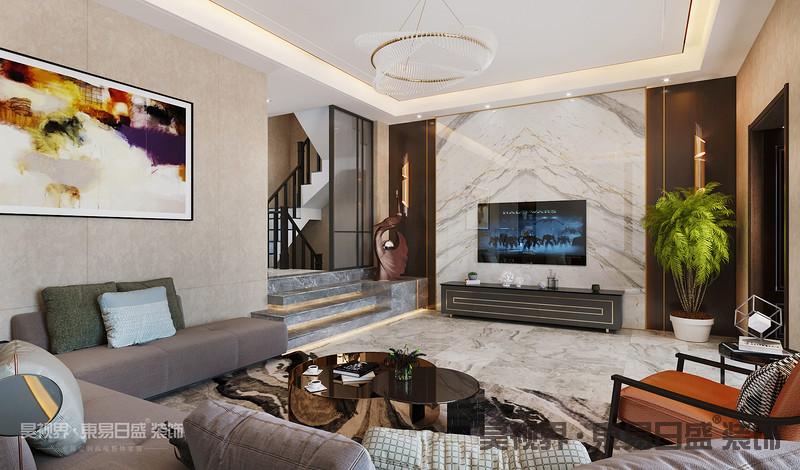 客厅设计体现了现代生活快节奏、简约和实用,但又富有朝气的生活特征。