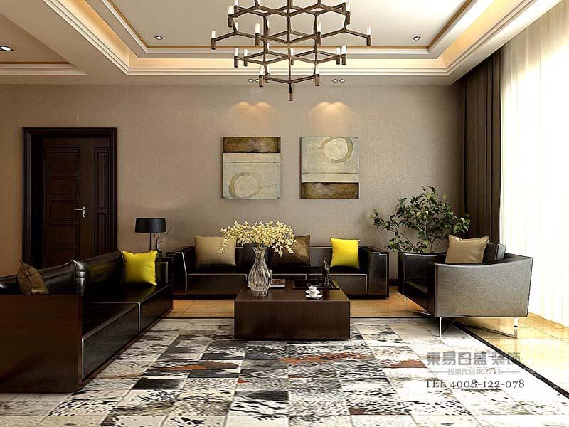 现代风格客厅效果图1