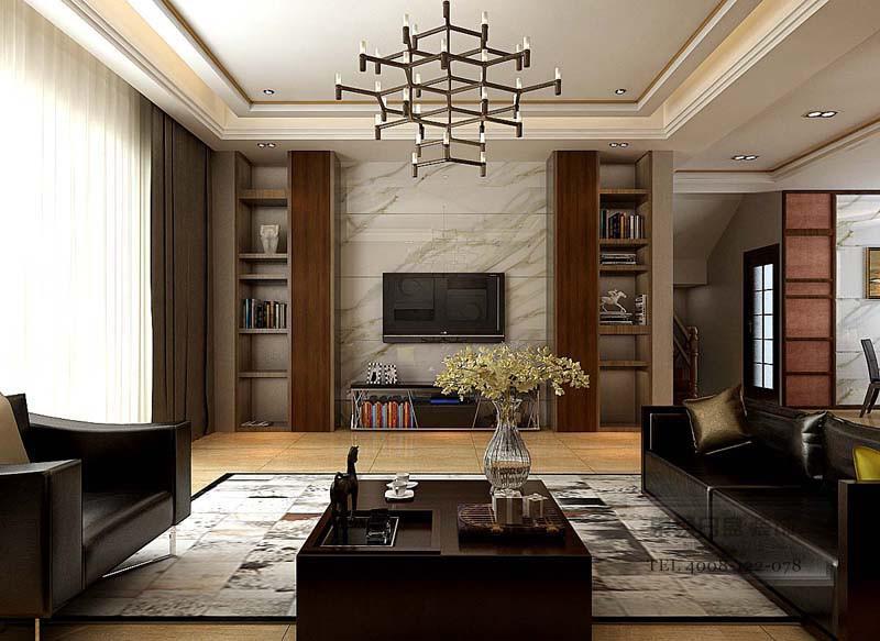 现代风格客厅效果图2