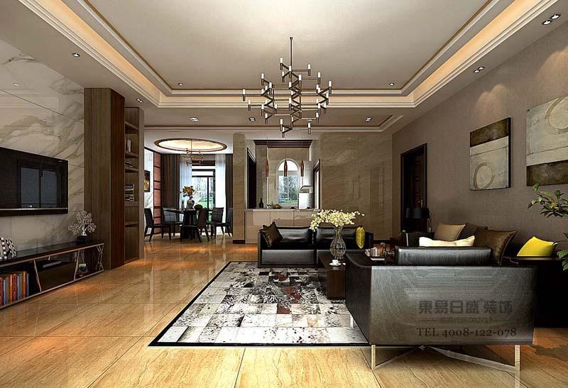现代风格客厅效果图3
