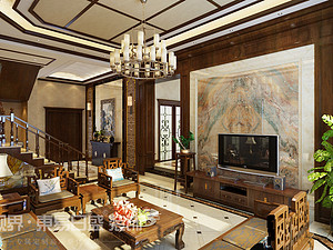 中式风格 | 绿地迪亚庄园380m2 — 演绎东方美学