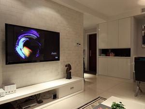 海唐广场116平二居室装修案例 现代简约