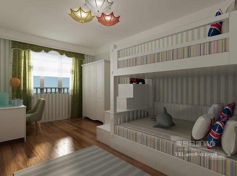 临沂美式风格装修装修效果图_儿童房