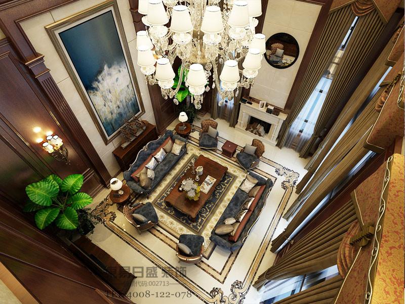 圣兰菲诺别墅客厅鸟瞰装修效果图