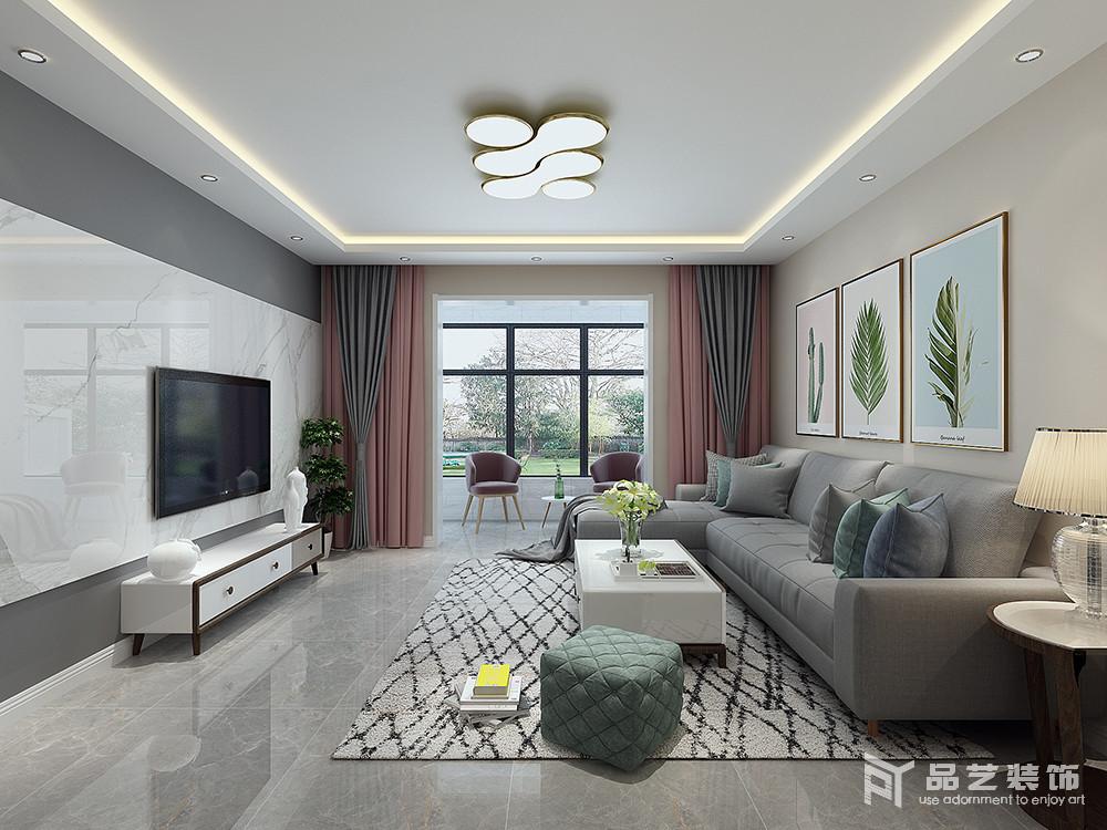 塞纳阳光三居室-客厅