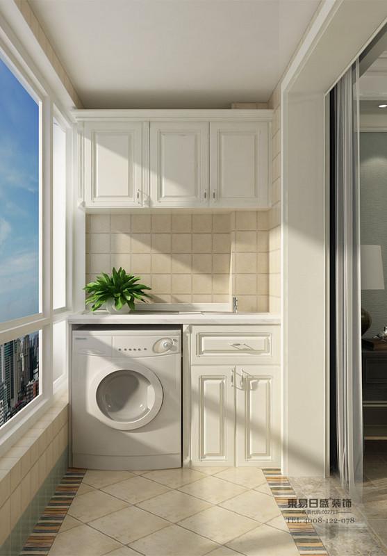 阳台洗衣机柜_定制