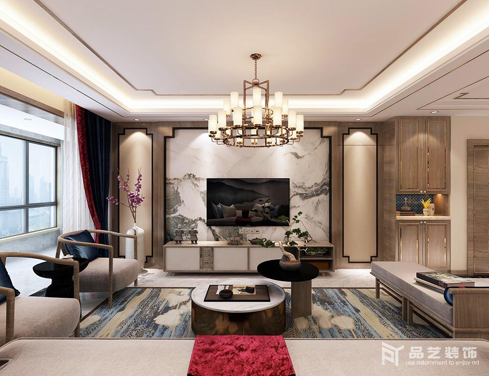 中冶丽苑四居室-客厅电视背景墙