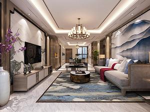 中冶丽苑四居室 165㎡ 新中式风格