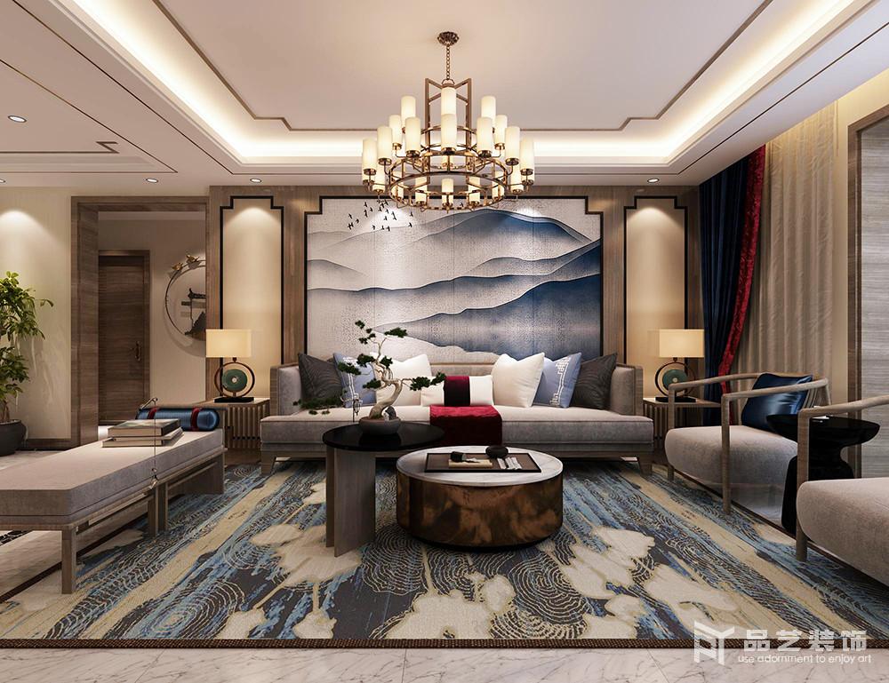 中冶丽苑四居室-客厅沙发背景墙