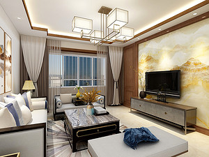 雅园二期三居室 126㎡ 新中式风格