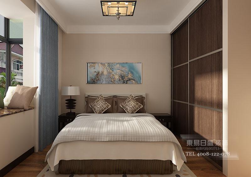 临沂新中式别墅装修卧室