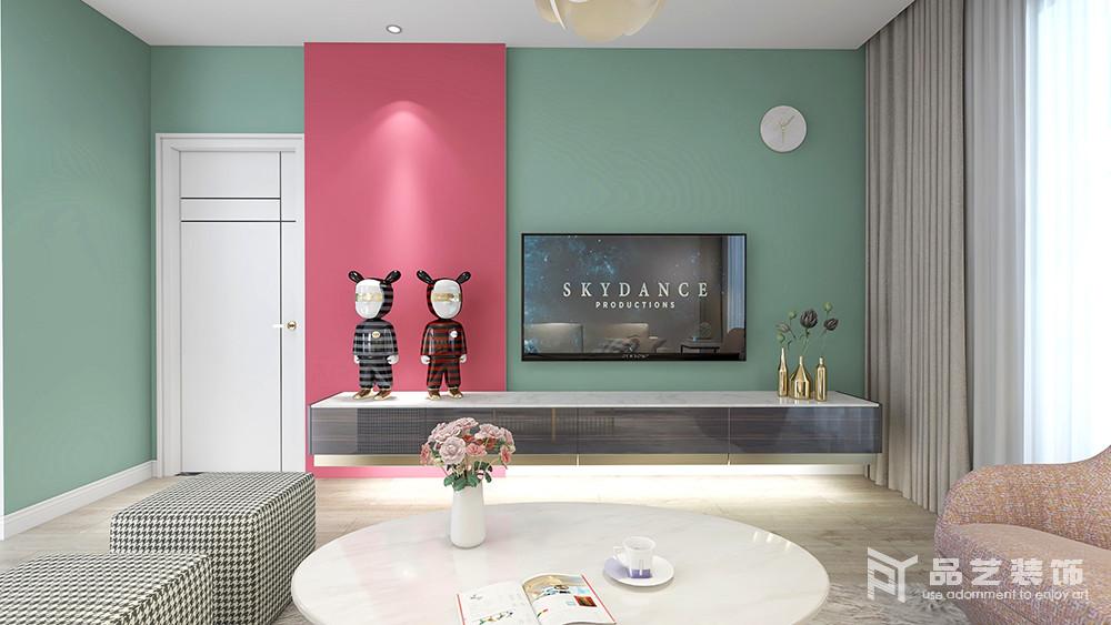 新富家园三居室-客厅电视背景墙