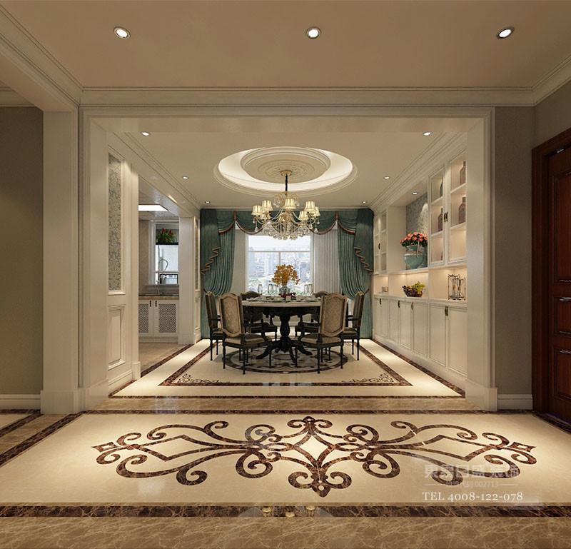临沂欧式风格装修餐厅、走廊
