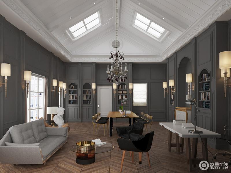 伸了天窗挑高,两扇空间采光了室内增加;灰雅的海宁家具卖哪里二手有图片