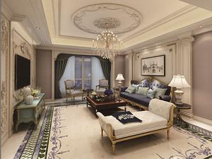 香苑西園歐式設計 140平米三居柔美華麗裝修