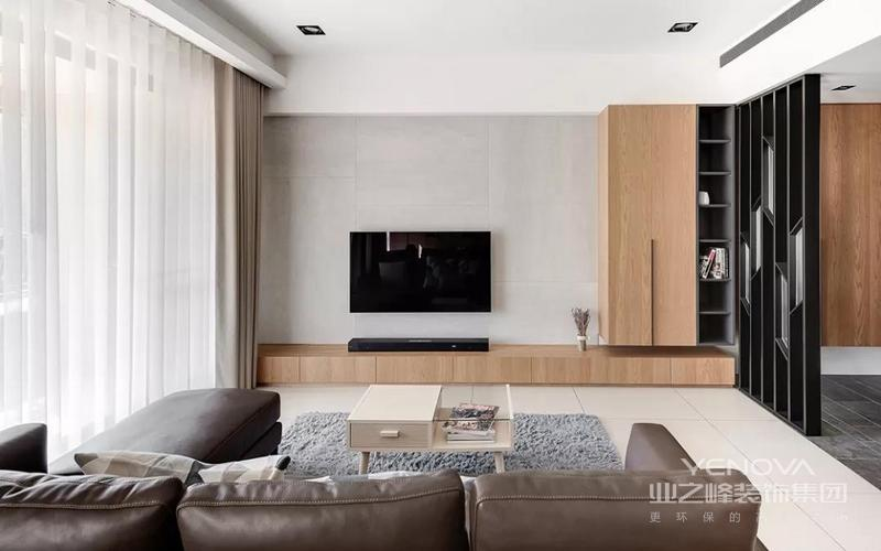 客厅整体空间给人以简约小资的雅致舒适而又情趣。