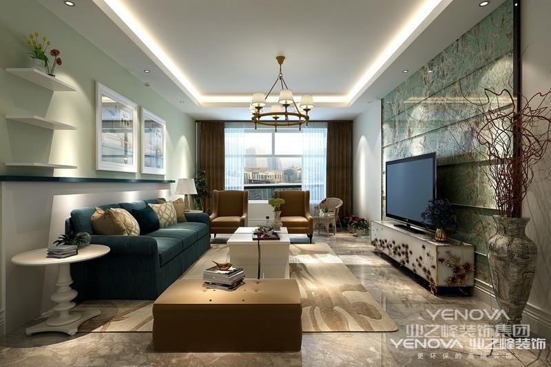 本案为三房二厅二卫一厨的高层住宅.环境优美,为一四口之家为依据进行设计,突出温馨且不失时尚之感。本案以简洁明快的设计风格为主调,全面考虑,在总体布局方面,尽量满足四口之家生活上的需求,主要装修材料为钛金条为装饰饰面,以钛金条优美含蓄的线条装饰玄关及各种景点,创造一个温馨,健康的现代家庭环境.环境室内设计区别于简单的装饰设计就在于环境艺术设计是从全局出发,而不仅仅着眼某一点或某一个墙面的装饰.利求达到统一中带有变化,和谐中产生对比的要求。  首先在功能方面,要充分满足业主的生活要求,客厅是交友娱乐中心,影视
