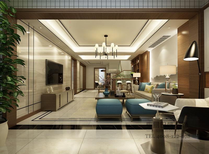 略带中式韵味的家具为业主提供一个舒适清心的生活环境。
