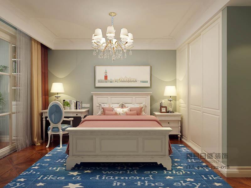 临沂翰林美郡美式卧室装修效果图