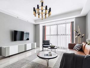 117㎡現代風3室2廳,簡約與舒適的典范之家