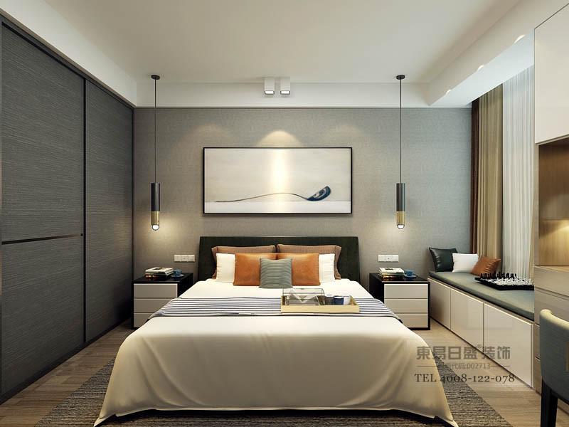 夯实的银色现代感在人休息入睡时能够避免这快节奏带来的不安焦虑感。