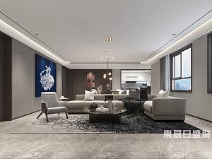 國信上城疊院44號樓,現代簡約風格,200平,四室兩廳一廚兩衛
