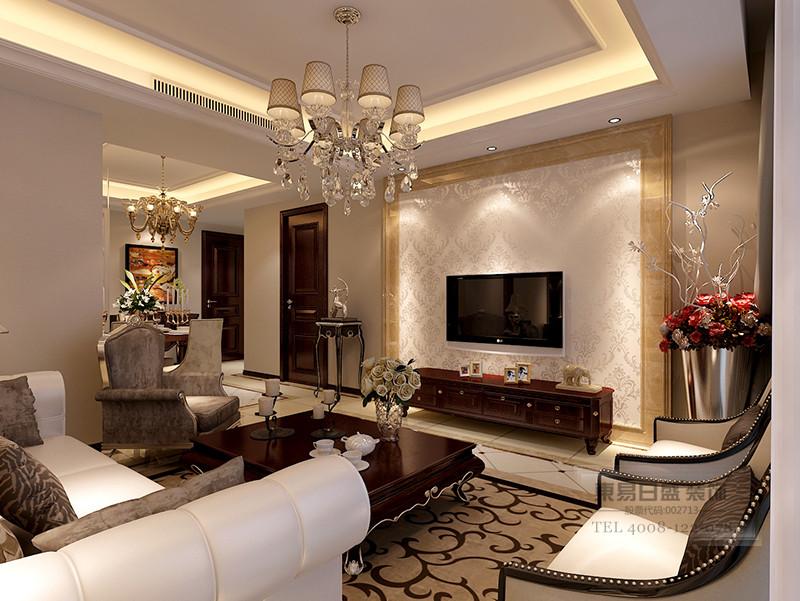 三室两厅欧式装修风格影视墙效果图