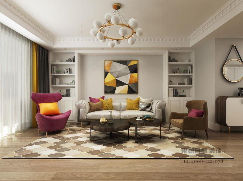 古典色系+现代感装饰营造一个低调奢华有内涵的居住环境