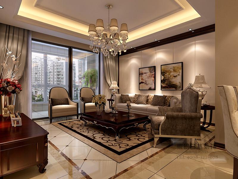 三室两厅欧式装修风格客厅效果图