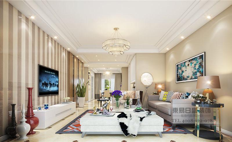三室两厅现代装修风格客厅效果图