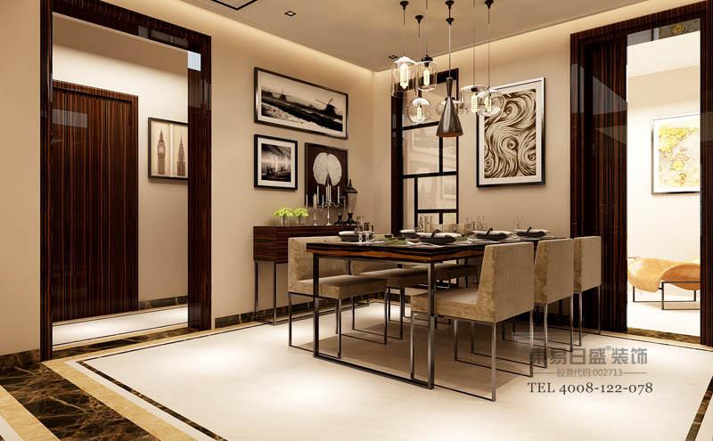 餐厅空间和书房多功能区有更好的互动,玻璃隔断增加了餐厅的采光。