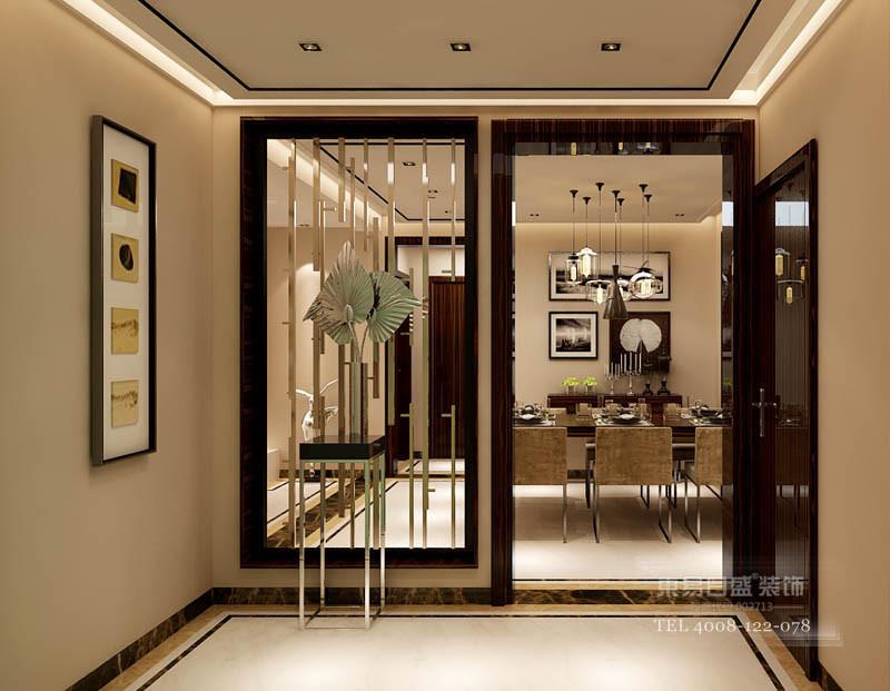 入户玄关现代金属隔断的运用体现了时尚感和空间的通透性。