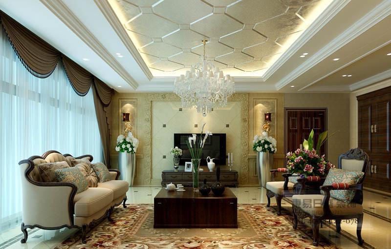 石材的运用使客厅更大气