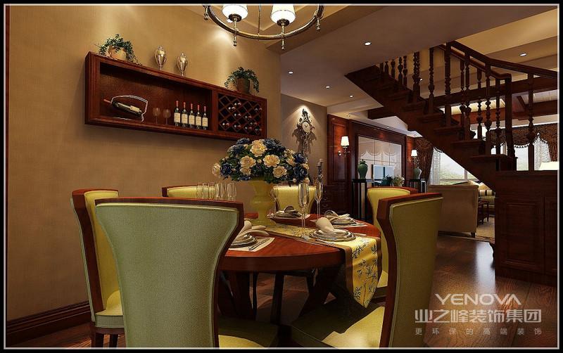 融合清雅含蓄和简约实用的餐厅。