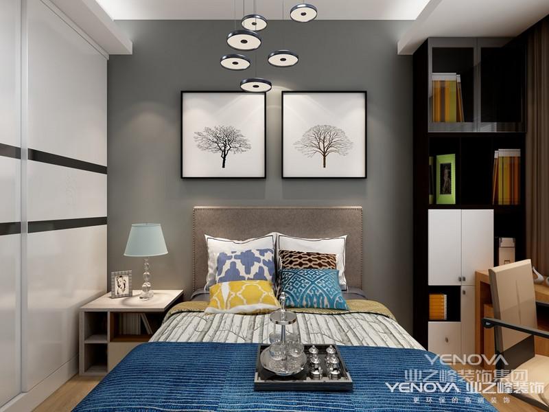 """在做设计方案前通过与男主人的沟通,然后确定了房子的整体风格。对于时下很火的新中式风格来说是在中式风格和现代风格的基础上不断的将两者的优点结合在一起,将很多""""中国""""的元素融入进去,此案中用山水纹,圆,装饰山水画,纯色壁布等元素构成,有着传统文化底蕴的同时又具备了新时代的气息,我想做的新中式风格以""""减法""""""""雅致""""为主。两个孩子的卧室根据她们喜欢的风格定位。"""
