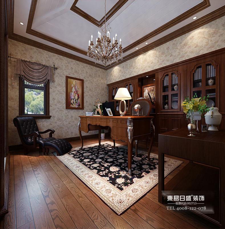 别墅美式古典风格书房