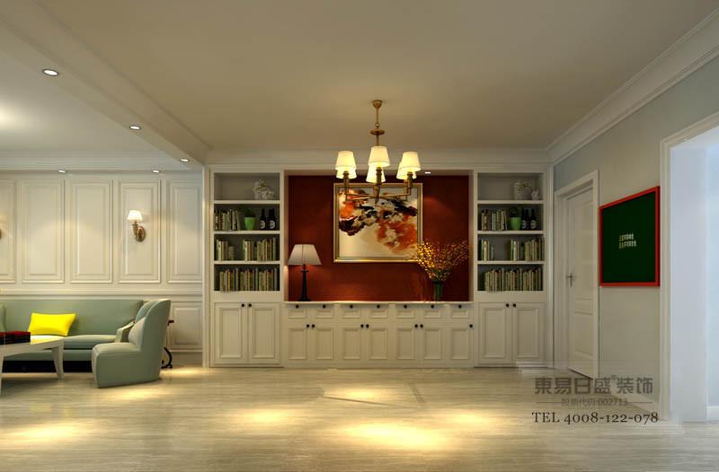 墙面主要材质是纯色的壁纸为主