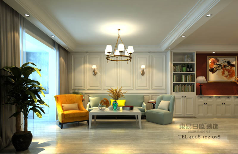 温馨,不花哨,空间显大。配上美式的家具,整个空间极具生命力。
