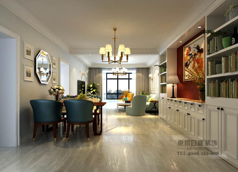 房子空间比较小,以轻装修,重装饰为主。此方案放弃了美式乡村铺砖与墙面常用的小碎花,大花图案