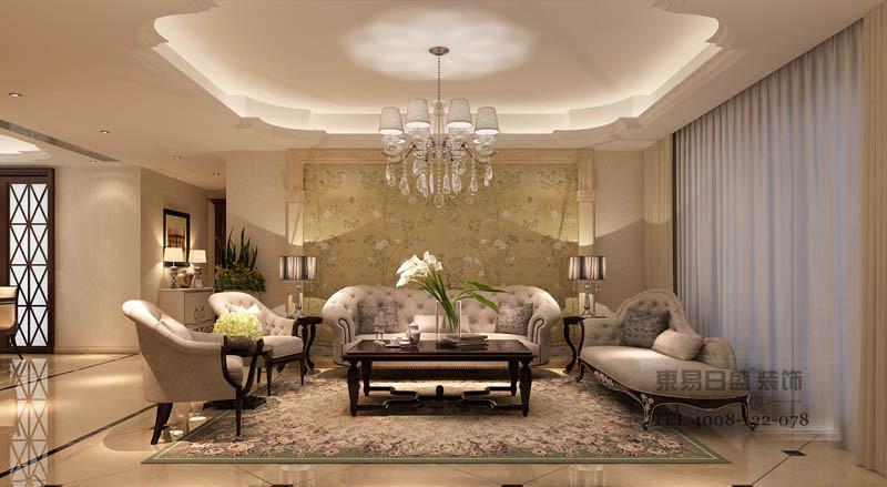 色彩设计方面:墙面采用淡雅的色调,来烘托出软装配饰的时尚色彩,墙面的部分造型与家具之间有形成一定的协调,最后通过植物色彩深化浪漫的主题。