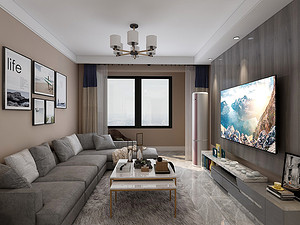 东隽苑三居室 103㎡ 北欧风格
