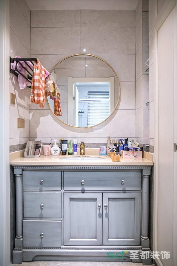 卫生间设计了干湿分离区域,方便梳洗,互不打扰,带来了方便性和实用性。